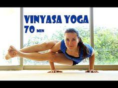 Vinyasa YOGA intermedio/avanzado en español para hacer en casa - YouTube