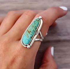 Navajo Half Twist Turquoise Ring is BACK but only in limited sizes so get in quick... Part of our 'Navajo' Collection which are all hand crafted by local Navajo artisans