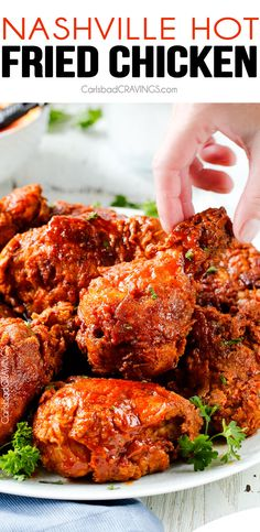 My family and friends go crazy over this fried chicken - and its easier than you think! Juicy, crispy, flavorful and you can make it as spicy or not spicy just depending on how much Nashville Hot Sauce You use. I will never use another fried chicken recipe again!