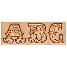 "3/4"" Alphabet Leather Art Stamp Set"