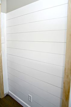 How to add the shiplap look to your home (for a lot less!)