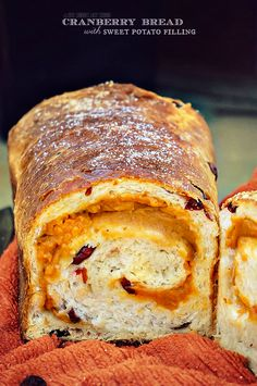 Cranberry Bread with Sweet Potato Filling