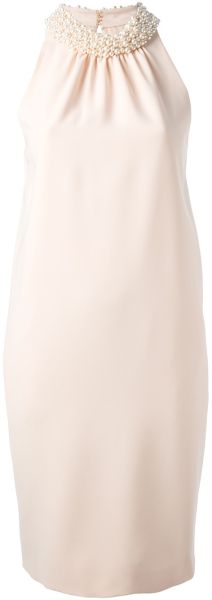 Moschino Embellished Collar Dress - Lyst