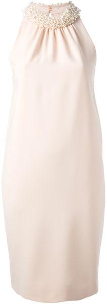 Moschino Embellished Collar Dress - Lyst