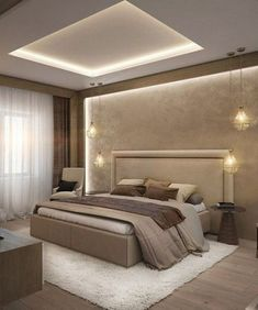 Unordinary Ceiling Design Ideas For Your Bedroom – Schlafzimmer Ideen House Ceiling Design, Ceiling Design Living Room, Bedroom False Ceiling Design, Master Bedroom Interior, Room Design Bedroom, Modern Master Bedroom, Bedroom Furniture Design, Home Room Design, Bedroom Designs