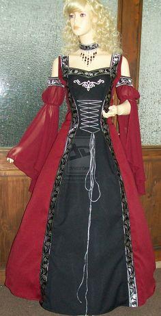 Medieval dress Mirella by Azinovic.deviantart.com on @deviantART
