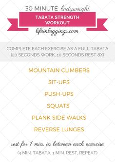 If you have 30 minutes to spare in your day, you can stay active and incorporate quick, intense workouts into your fitness routine like this at-home bodyweight Tabata strength workout! (Exercise demonstrations and Tabata Training Playlist included.)