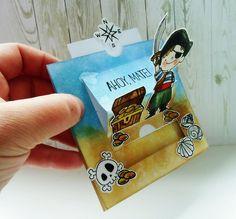 malwinkowo: PIRACKA SLIDER CARD 2 Slider Cards, Sliders, Stamps, Scrap, Seals, Postage Stamps, Stamp, Romper