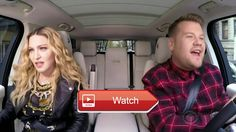 Madonna Music Live Carpool Karaoke  Enjoy Madonna's Carpool Karaoke with James Corden No copyright infringement intended All rights to CBS and The Late
