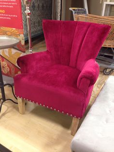 Pink chair with stud detail
