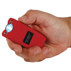 Li'l Guy Stun Gun and Flashlight Red This stun gun is small and compact and is easy to conceal in your hand.  Don't let the name Stun Master Li'l Guy fool you. It has a beast inside just waiting to be released. Just press the shock button and the Lil Guy thrashes 12,000,000 volts out of the metal probes.