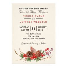 Christmas Fall Rustic Barn Country Wedding Card - winter gifts style special unique gift ideas