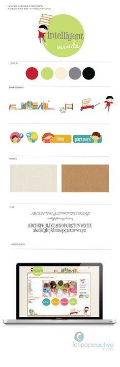 children logo design | brandboard by Lollipop Creative Studio