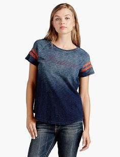 Lucky Brand Indian Indigo Tee Womens