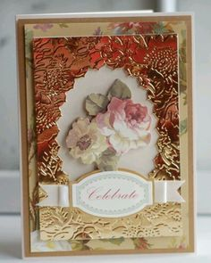 Gorgeous metallic embossed card @Anna Griffin, Inc.