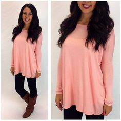 Bobbi Jo Tunic in pink at Junky Trunk Boutique