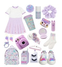 """""""Fairy/Party Kei #35 ⭐️✨"""" by anniebeexoxo ❤ liked on Polyvore featuring Ash, Jeremy Scott, Pusheen, Tony Moly, Fujifilm, Hot Topic, Forever 21 and Models Own"""