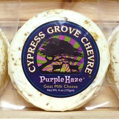 Cypress Grove Chèvre - Purple Haze Goat Milk Cheese, Arcata, California Milk And Cheese, Wine Cheese, Arcata California, Cypress Grove, Purple Haze, Goat Milk, Wines, Goats, Coastal