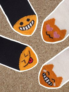 Emoji, Slippers, Socks, Kids Rugs, Decor, Decoration, Kid Friendly Rugs, Emoji Characters, Sock
