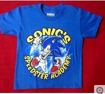 """""""Sonic the Hedgehog"""" Sonic's Speedster Academy  T-shirt (maker unknown, custom sized)"""