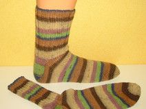 Handgestrickte Socken in Gr.42/43