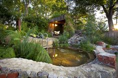 Bathe natural pool by Phillip Johnson, winner of most sustainable garden.