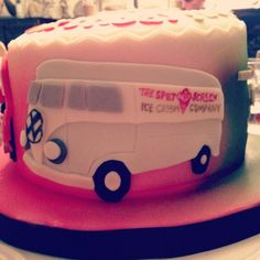 Splitscreen ice cream van birthday cake just wonderful! Ice Cream Van, Butter Dish, Birthday Cake, Dishes, Birthday Cakes, Tablewares, Dish, Cake Birthday, Signs