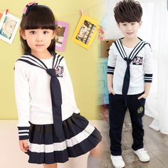 23.66$  Buy now - http://alijr0.shopchina.info/go.php?t=32793436646 - 4-12 Years old Kids Clothing Set 2017 New Spring Long Sleeve T shirt + Skirt / Pants 3 pieces Boys Girls Clothing Set  #bestbuy