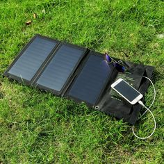 Favson 25W Travel Solar Charger with High Efficiency Sunpower Panels for 5V USB Devices: Cell Phones & Accessories