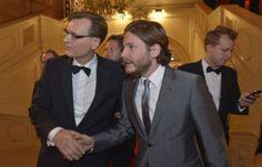 "#ROMY14: KURIER-Geschäftsführer Thomas Kralinger mit ""Rush""-Star Daniel Brühl."