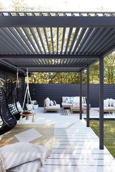 Outdoor Rooms, Indoor Outdoor, Outdoor Living, Outdoor Decor, Flat Roof Skylights, Louvered Pergola, New Builds, Terrace, Backyard