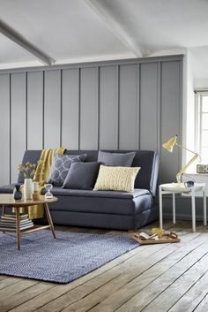 Amazing 36 Charming Living Room Decoration Ideas With Minimalist Sofa To Try Asap Living Room Color Schemes, Paint Colors For Living Room, Living Room Grey, Living Room Decor, Colour Schemes, Dining Room, Living Area, Sofa Bed For Small Spaces, Minimalist Sofa