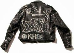 keith haring biker leather jacket