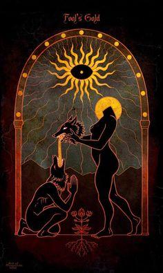 Dark Fantasy Art, Dark Art, Gravure Illustration, Art Et Illustration, Pagan Art, Occult Art, The Occult, Arte Ganesha, Art Sketches