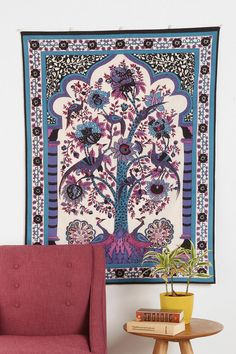 Tree of Life Wall Tapestry would love this on the living room wall with dark blue couches Tree Of Life Tapestry, Tree Of Life Art, Wall Tapestry, Purple Tapestry, Dark Blue Couch, Blue Couches, Bob Marley Tapestry, Wall Decals, Wall Art