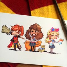 Ginny, Hermione and Luna