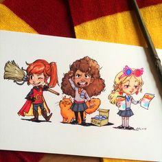 Ginny, Hermione and Luna