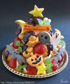 【ハロウィンケーキ祭り】ハロウィンのプロフィットロール・レシピ の画像 ちょっとの工夫でかわいいケーキ