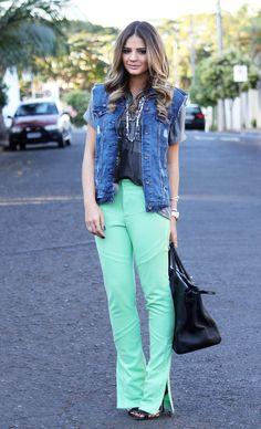 Colete jeans grandão *-*