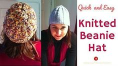 The easiest knitted beanie. Arm Knitting, Knitting Socks, Knitted Hats, Knitting Patterns, Crochet Gifts, Knit Crochet, Easy Gifts To Make, Easy Youtube, Patterned Socks