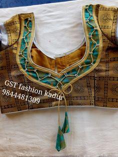 Latest Blouse Neck Designs, Saree Blouse Neck Designs, Simple Blouse Designs, Kurta Neck Design, Stylish Blouse Design, Bridal Blouse Designs, Patch Work Blouse Designs, Yellow Saree, Designer Blouse Patterns