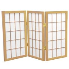 2 ft. Tall Desktop Window Pane Shoji Privacy Screen (more panels) & finishes)