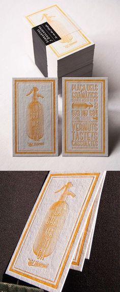 Vintage Styled Earthy Letterpress Business Card Design