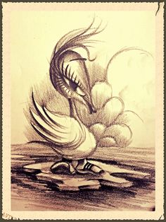 Duck mood. Drawing by Clodius Thomas. Visit www.tomstattoo.ro
