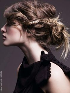 braided messy bun updo