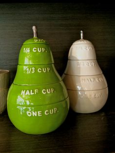 Pear Measuring Cups $35