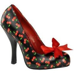 @Overstock - These are going to be your favorite heels this season! Designed with a feminine bow, and a cutout in the shape of a heart.http://www.overstock.com/Clothing-Shoes/Womens-Pin-Up-Cutiepie-06-Black-Red-Cherry-PU/7193318/product.html?CID=214117 $64.99#Repin By:Pinterest++ for iPad#