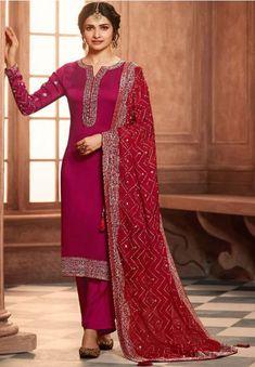 Designer Salwar Kameez, Salwar Kameez Online, Pakistani Salwar Kameez, Churidar, Pakistani Dresses, Red Salwar Suit, Salwar Suits Party Wear, Party Wear Lehenga, Prachi Desai