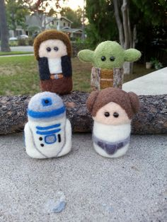 Princess Leah inspired art doll Star Wars Needle by MonkeyPillow