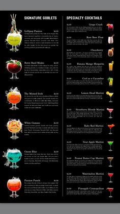 The Sugar Factory Drink menu